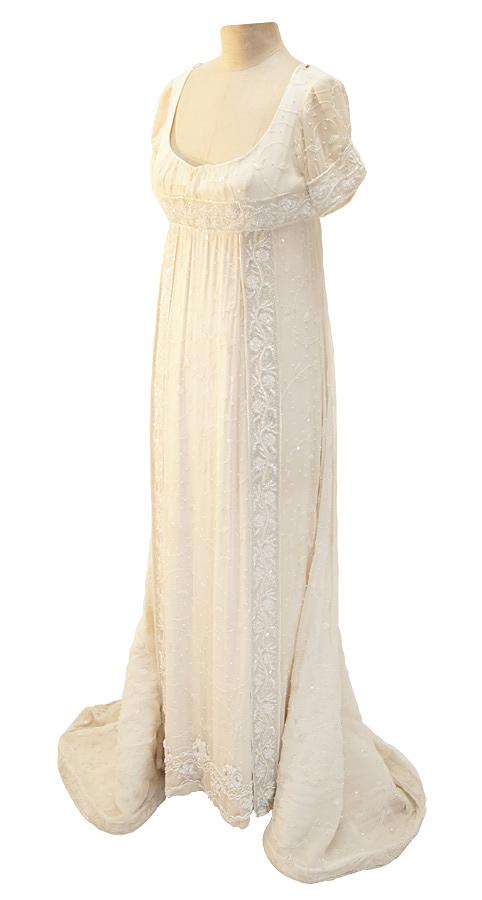 Empire Kleid um 1812 aus Seide und Chiffon