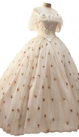 Sissi Sternchen-Kleid Tüll mit Pailletten