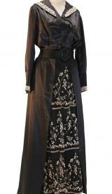 Jahrhundertwende Kleid aus Satin