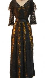 Jahrhundertwende Kleid aus Seide und Spitze