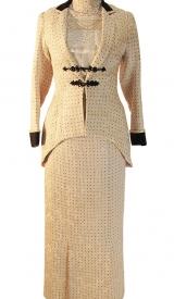 Jahrhundertwende Kostüm aus Wollbrokat, um 1910