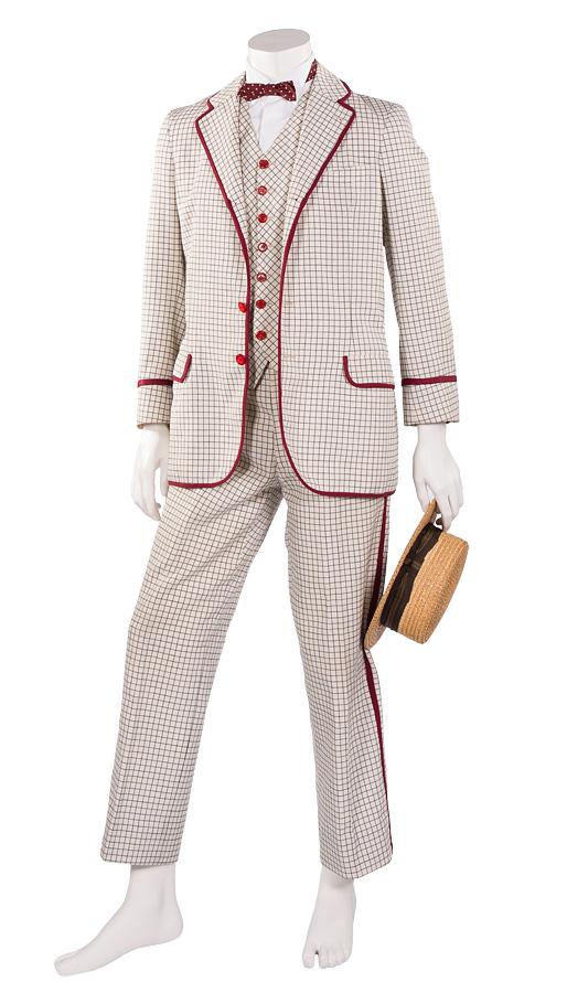 Jahrhundertwende Anzug 3-teilig, rot eingefasst