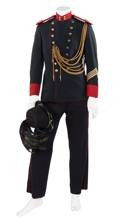 K.u.K. Uniform der Leibgardeninfantrie mit goldener Fangschnur