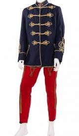 K.u.K. Husaren-Uniform mit gold Stickerei und Possamentrie
