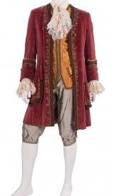 Mozart, Rokoko-Gehrock aus Samt mit Stickerei, Kniehose, Weste und Plastron